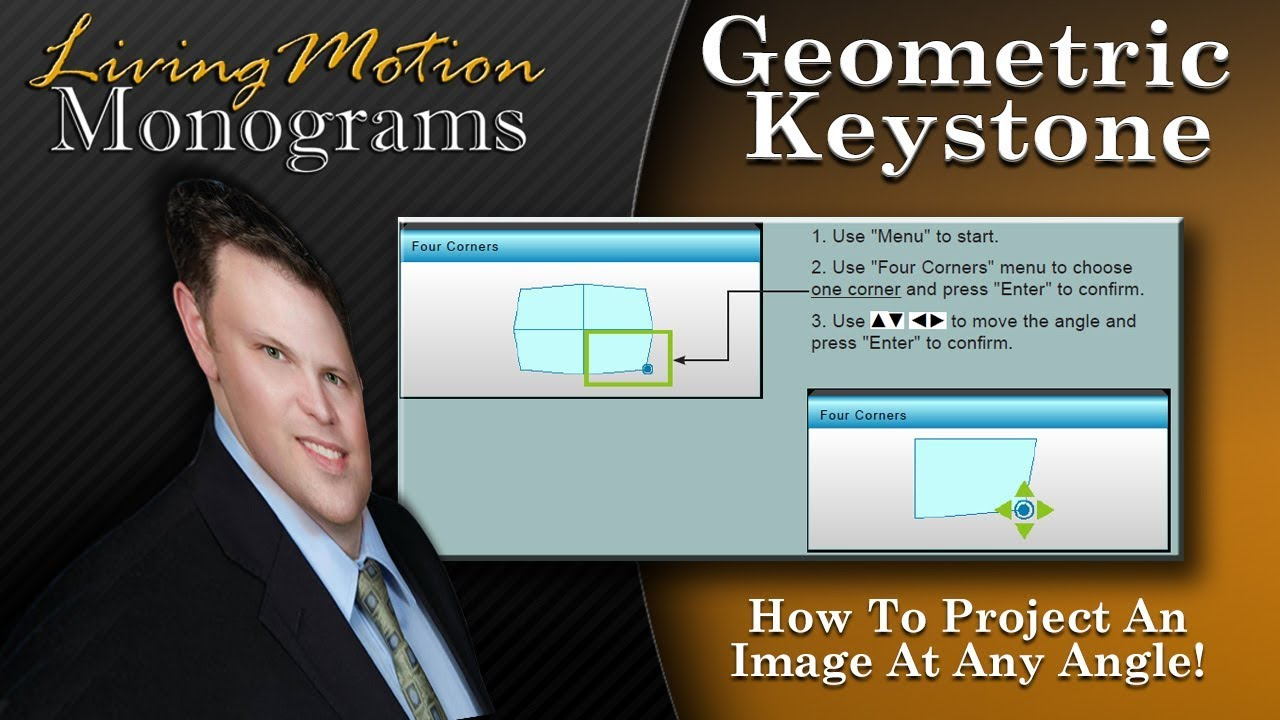 How To Use Geometric Correction & 4 Corner Keystone on Your Projector