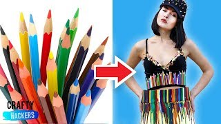 10 DIY Clothes Made From School Supplies