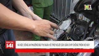 Công an phường hỗ trợ gắn chíp chống trộm xe máy   Camera 141
