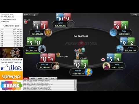 Sunday Million: 18 June 2017 - FINAL TABLE. HD videos