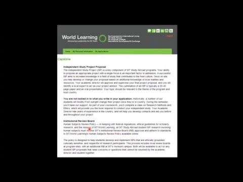 SIT Study Abroad Admissions Process Webinar