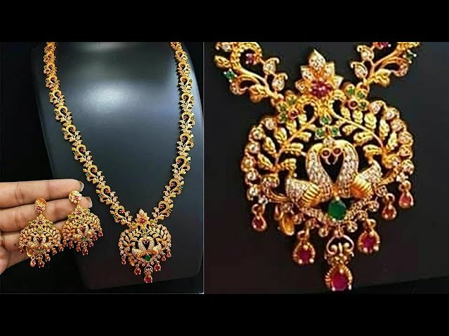 50 gram Gold Traditional Necklace Designs 2019