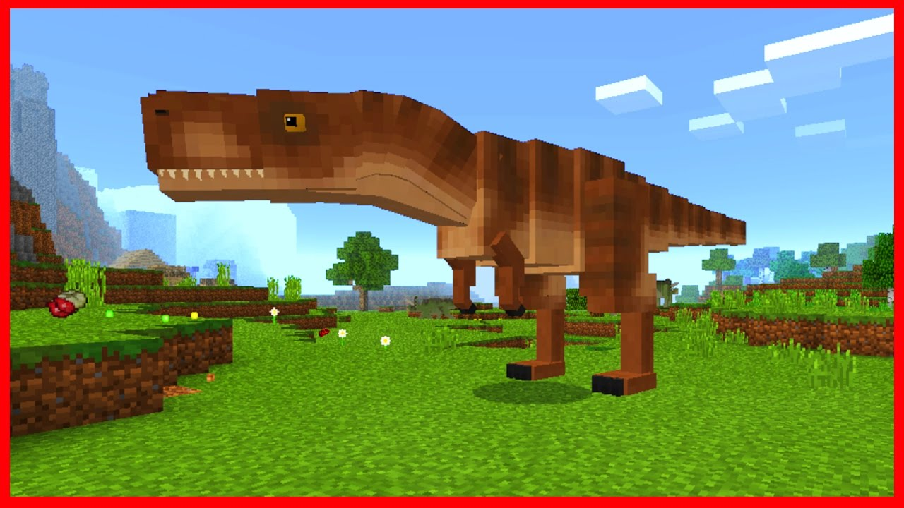 Minecraft PE Addons - DINOSAURS?! Jurassic Craft Addon for iOS & Android  MCPE 1 0 5 / 1 0