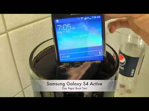 Samsung Galaxy S4 Active - Das Pepsi Boot Test