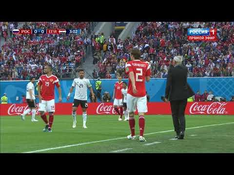 Вторая игра Сборной России на Чемпионате мира 2018 против сборной Египта 19 июня 19.06.18. HD 1080