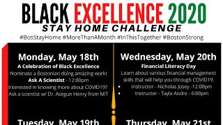 Black Excellence Stay Home 2020 Financial Literacy
