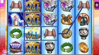 ZEUS II Video Slot Casino Game with a FREE SPIN BONUS