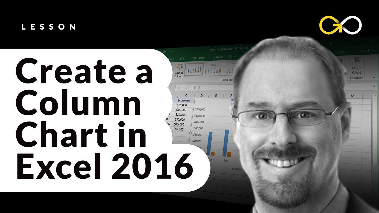 How to create a column chart in excel 2016 youtube how to create a column chart in excel 2016 ccuart Image collections