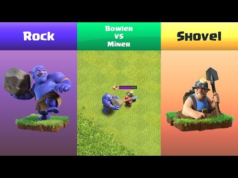 Every Level Miner VS Every Level Bowler | Clash Of Clans