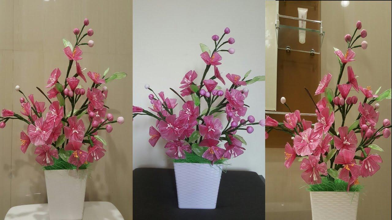Cara Membuat Bunga Sakura dari Plastik kresek Bekas  30cf1cbd56