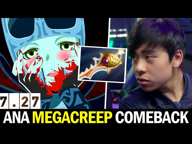 ANA Incredible Megacreep Comeback — Divine Rapier PA 7.27 Dota 2