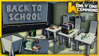 Minecraft - Modern School Furniture with Only one Command Block! - Chairs, Desks, Trash Cans & more!