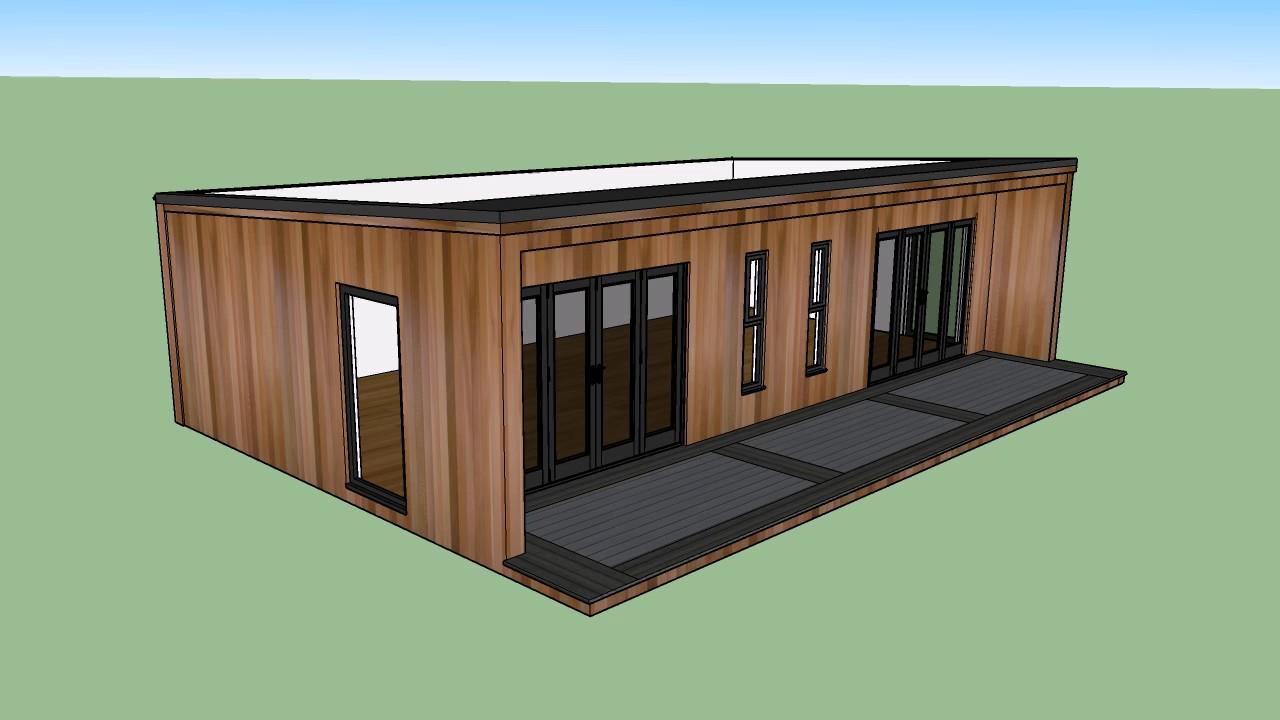 12m x 12m Concave Garden Room