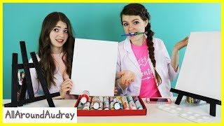 One of AllAroundAudrey's most viewed videos: Audrey and Jordan Paint Portraits of Each Other! / AllAroundAudrey