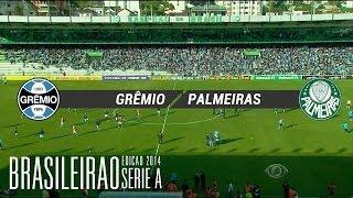 Melhores Momentos - Grêmio 0 x 0 Palmeiras - Brasileirão 2014 - 01/06/2014