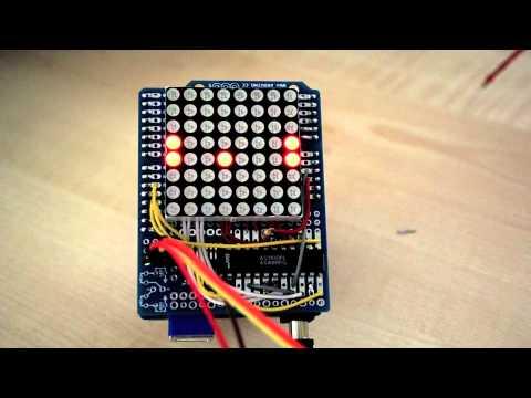 2pcs 8x8 3mm Red LED Matrix Display Common Anode