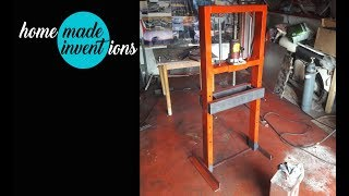 How to Make Powerful Hydraulic Press  from 7 ton jack - DIY - Homemade inventions