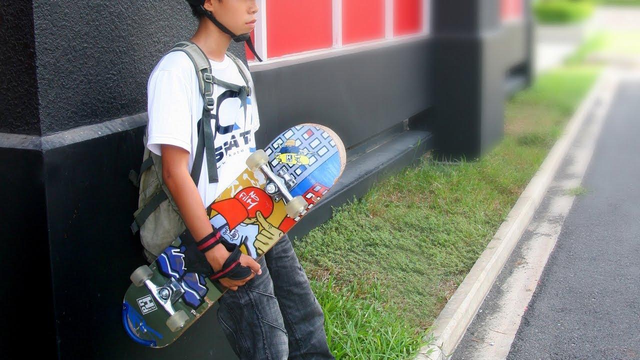 Hướng dẫn tự tập Trượt ván – Skateboard căn bản cho bé yêu