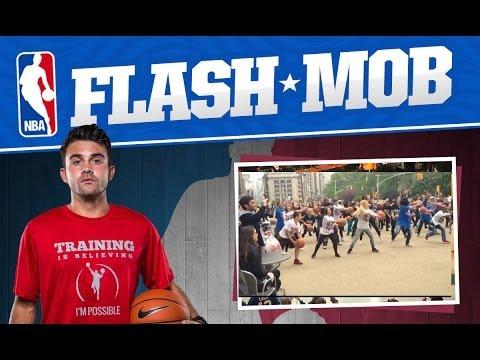 nba-flash-mob-for-nba-playoffs---nyc
