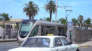 Trams in Rabat, Morocco, Africa 2017   ترامواي الر...