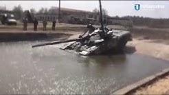Модернізований танк Т-72 АМТ пірнає під вод&#x
