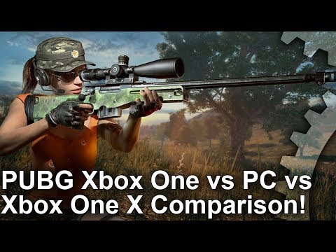 [4K] PUBG: Xbox One vs PC vs Xbox One X Graphics Comparison