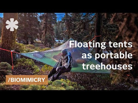 & Tentsile tree tents: floating treehouses mimic spider webs - YouTube