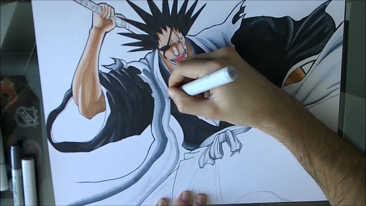 [Bleach] How To Draw Zaraki Kempachi / Comment Dessiner