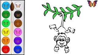 Как нарисовать и раскрасить ДИКИХ ЖИВОТНЫХ для детей  Мультик раскраска Малышам