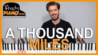VANESSA CARLTON-  A THOUSAND MILES Piano Lesson - How to play