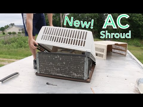 Installing a New AC Shroud on Our RV