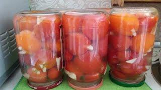 Бомбовый рецепт томатов без уксуса с чесноком