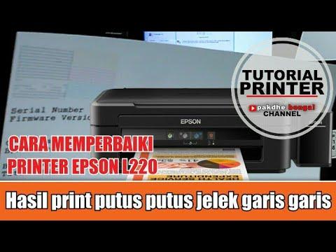Epson L220 Yang Hasil Printnya Putus Putus Bergaris Garis Jelek