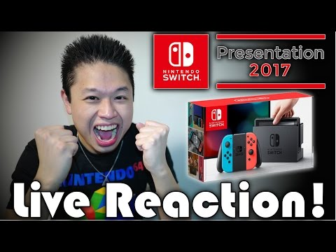 Nintendo Switch FULL REVEAL 2017 - LIVE REACTION!