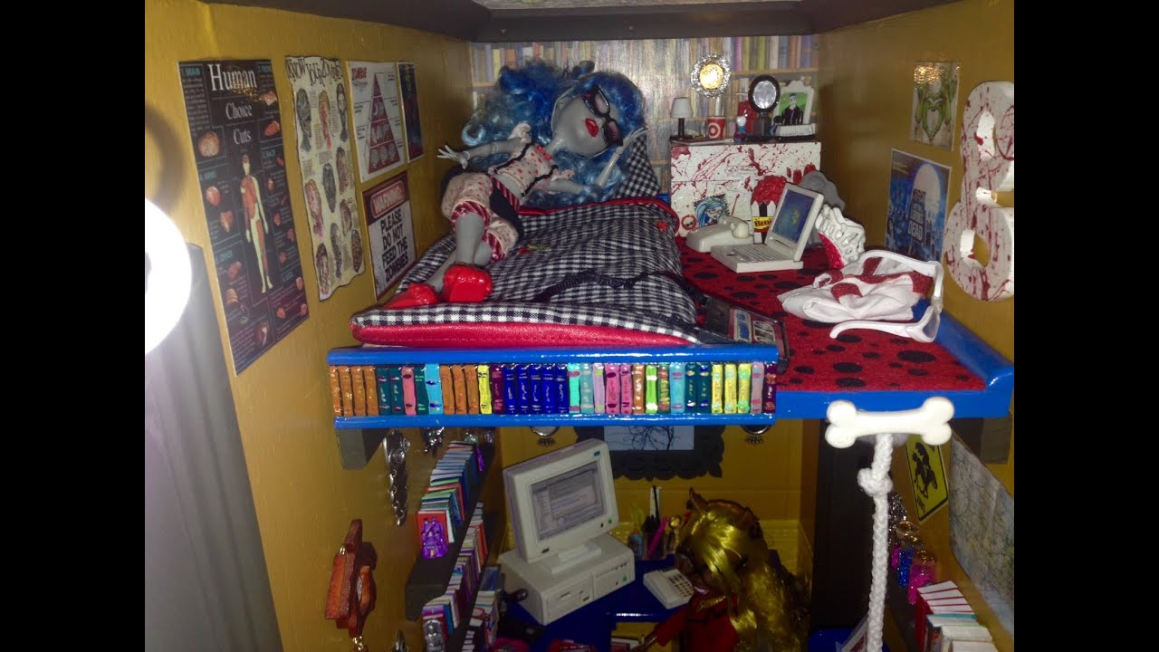 office library monster high doll house tour room 7 of 40