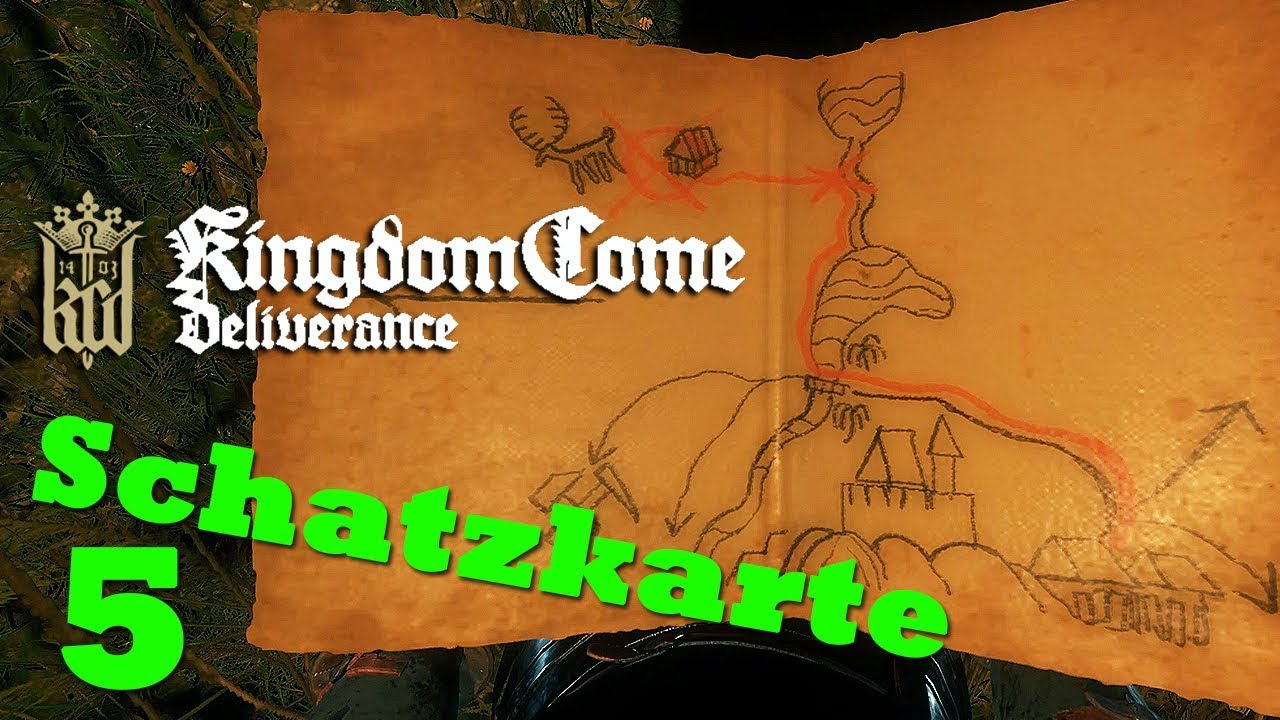 kingdom come deliverance uralte karte Uralte Karte 5 ☆ KINGDOM COME: DELIVERANCE ☆ Schatzkarte V [GER