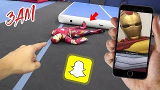 I FOUND IRON MAN'S SNAPCHAT AND HE SENT US A SNAP!! (KNOCKED HIM OUT)