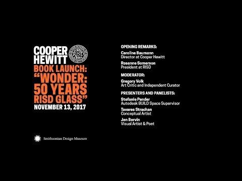 """Book Launch: """"Wonder: 50 Years RISD Glass"""""""