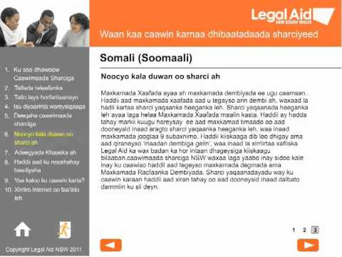 Welcome to Legal Aid - Somali