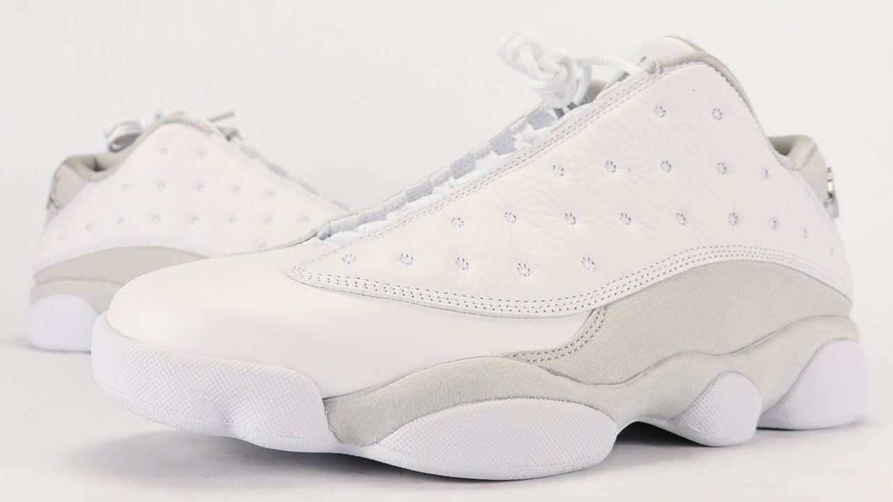55973741911e Air Jordan 13 Low Pure Platinum Pure Money Review + On Feet - YouTube