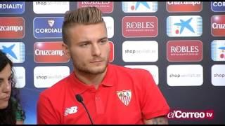 Immobile: «Soy muy feliz, el Sevilla es un equipo muy importante»