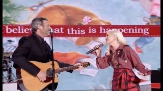Gwen Stefani & Blake Shelton!! On Performing on Her New Christmas Special
