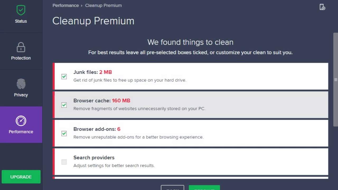 avast cleanup not working