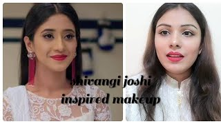 Shivangi joshi inspired makeup|makeup in hindi|soft makeup with bold lips|purplle.com sale