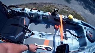 Pelican Catch 100 Fishing Kayak Mods and Kayak Trailer