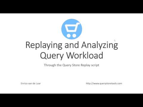 Replaying and analyzing query workload through the Query Store Replay script
