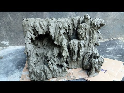 how-to-make-cliff-using-styrofoam-and-cement-for-room-decoration