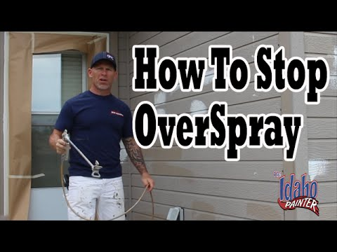 Stopping Airless Sprayer Overspray.  Eliminate Paint Over Spray.