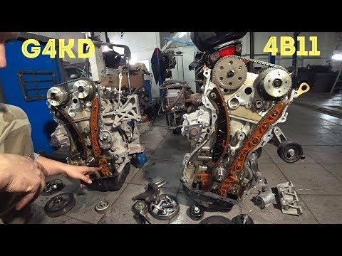 Как сделать из двигателя Mitsubishi 4B11 мотор  Киа G4KD