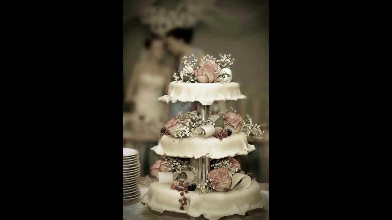 blomsterberg bryllupskage